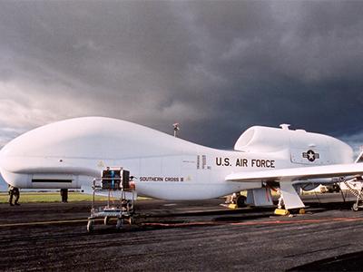 Global Hawk (renamed Southern Cross II) prepares for a flight test in 2001.