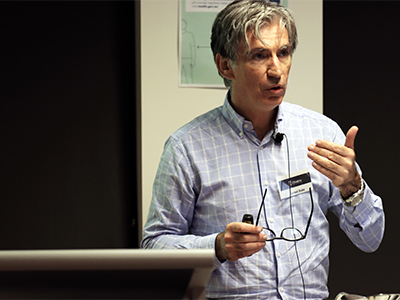 Speaking at the launch of the Flinders University Centre of Expertise in Electronic Warfare: Professor Sam Drake, inaugural Flinders University Chair of Electromagnetic Systems and Security.