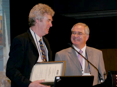 DSTO's Dr Allan Paull receives the von Karman Award for International Co-operation in Aeronautics.