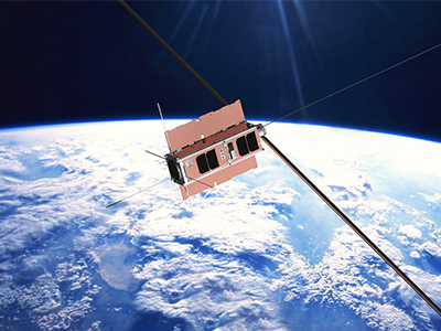 An artists impression of the Biarri cubesat