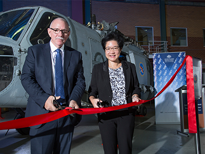 Shane Fairweather, First Assistant Secretary Helicopter Systems Division and Dong Yang Wu, Chief Aerospace Division, DST.