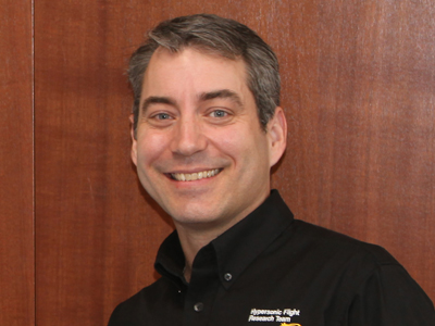 Dr Mark Bateup, DSTO's first researcher to be placed under the Industry Placement initiative, with Aerospace Concepts.