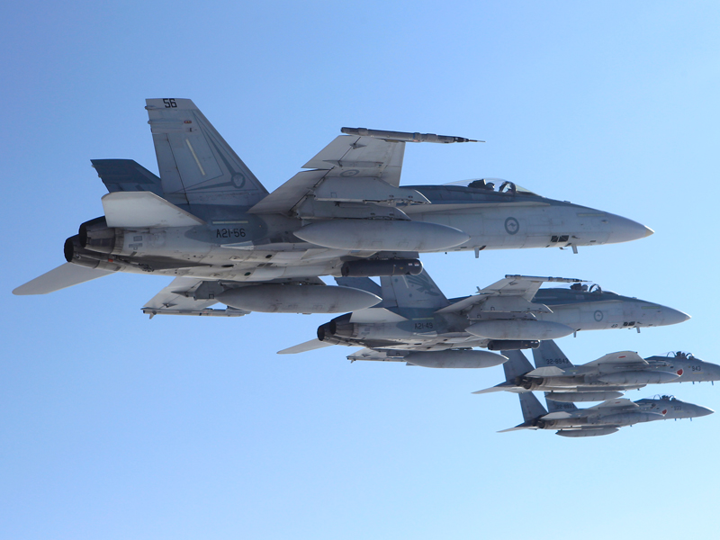 F/A-18 Hornet fighter jets