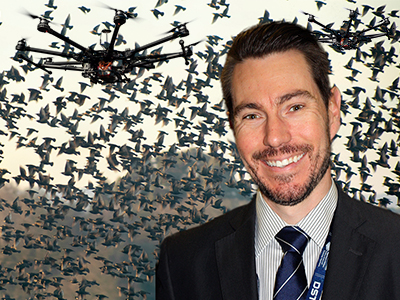 Defence researcher Robert Hunjet is helping to create flocks of high-tech, emergent courier pigeons.