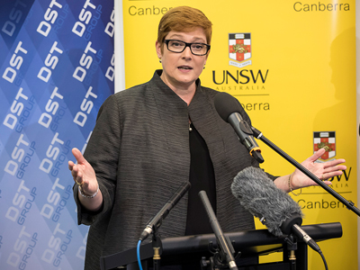 Minister for Defence Senator the Hon Marise Payne.