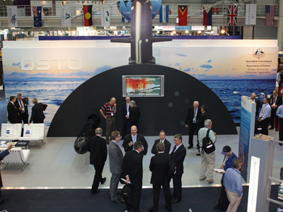 Photo of a DST Group stand at the Pacific Maritime Expo.