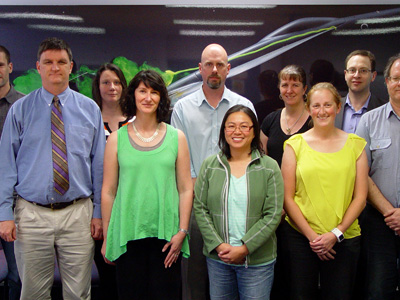 A group photo of DST Group scientists who are involved in the Scientists and Mathematicians in Schools program