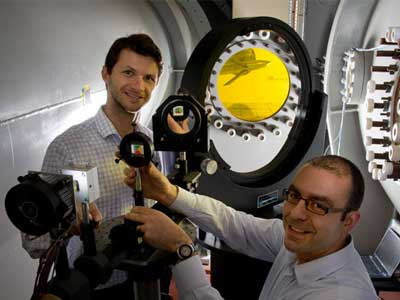 DST scientists inside the Transonic Wind Tunnel
