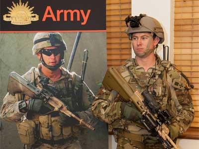CPL Christopher Donovan from the School of Infantry displaying the new improved uniform for Australian Combat Soldiers.