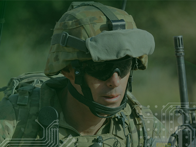 Image of a soldier, taken from the brochure for the Future Land Force Conference 2014