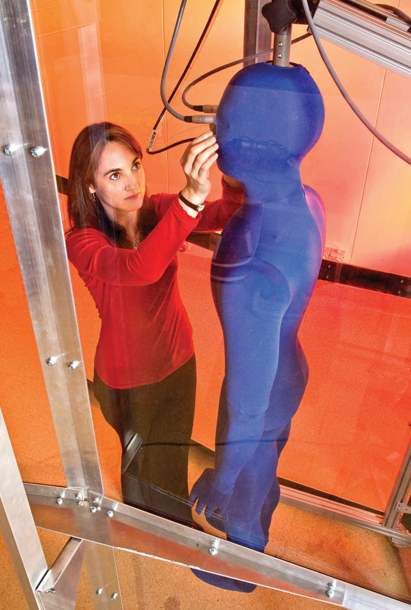 DSTO uses a 'sweating mannequin' to capture quick and reliable data on the thermal properties of clothing. The data is used in thermal prediction models to update the ADF's work/rest tables and helping to prevent heat illness of service personnel.