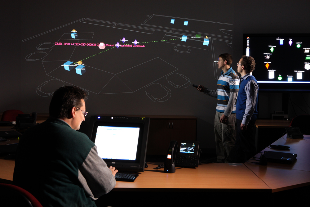 DSTO uses 3-D visualisation technology to support its research into meeting emerging cyber threats.