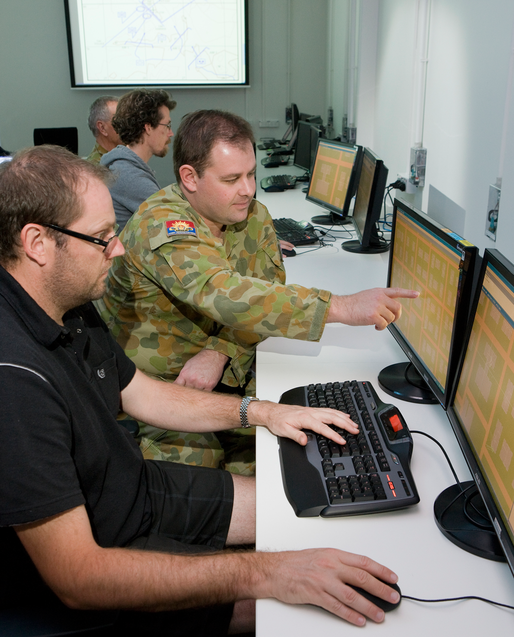 DSTO conducts wargaming and simulation studies for the ADF to provide insights into new tactics and procedures and to assist in capability development.