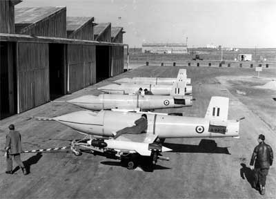 Black and white photography of jindivik aircraft stationed at Evetts Field, Woomera