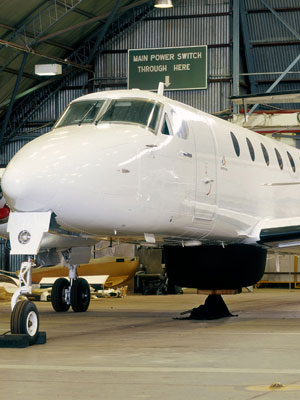 A test aircraft fitted with a radome for the Ingara multi-mode synthetic aperture radar.