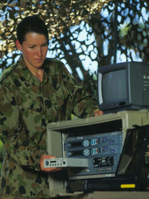 The theatre broadcasting system at RAAF Base in Edinburgh