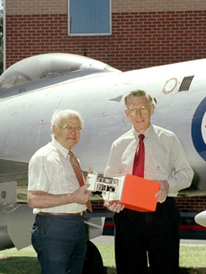 Dave Warren (left) and Ken Fraser with a Black Box prototype.