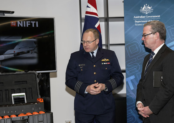 Minister Pyne and Air Force looking at NIFTI
