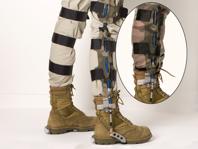 An image of the DST Group Operational Exoskeleton.