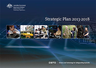 The cover of the DSTO Strategic Plan.