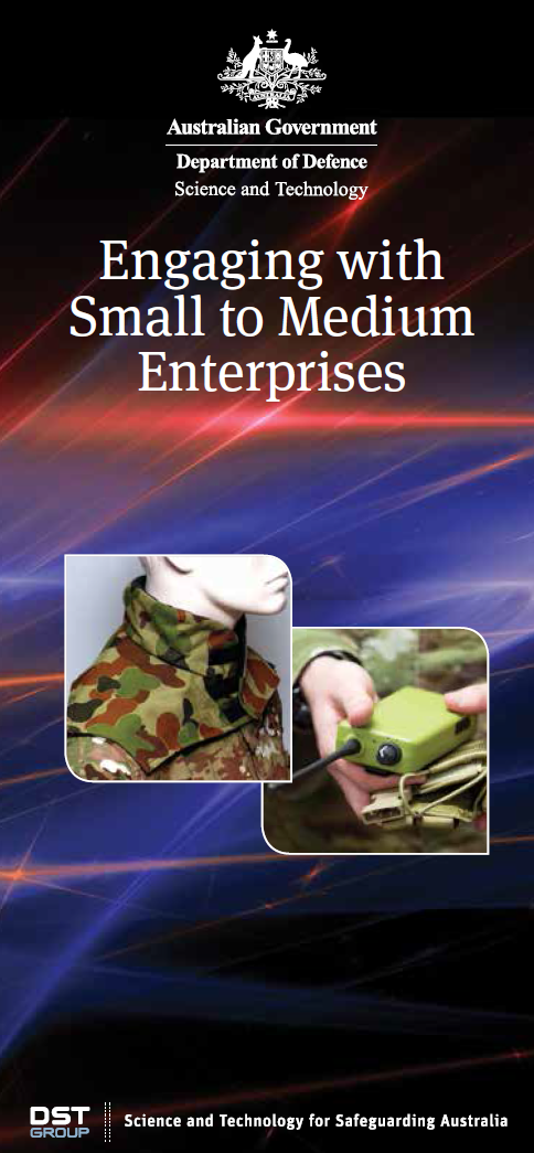 Brochure for 'Engaging with Small to Medium Enterprises'