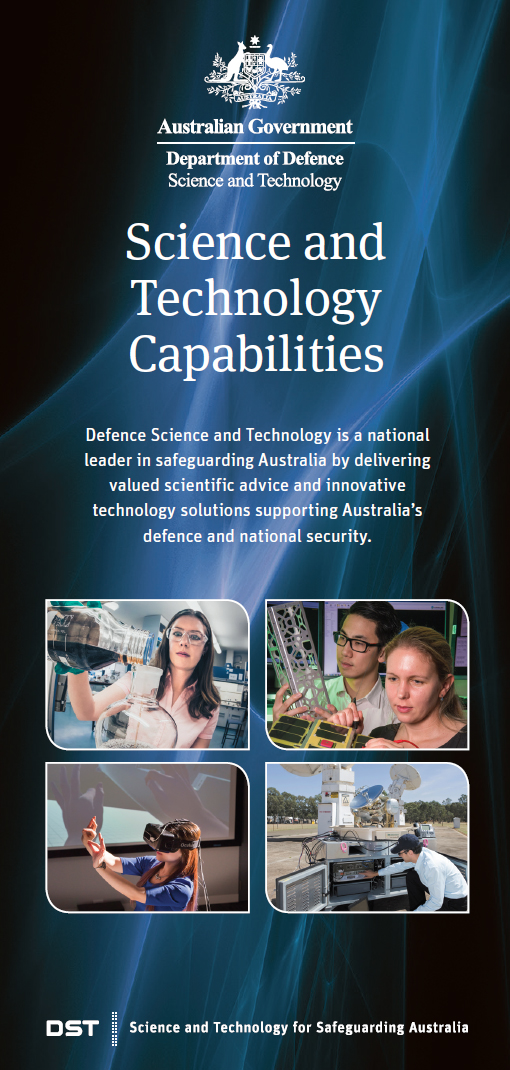 Cover of DST Group's Science and Technology Capabilities brochure