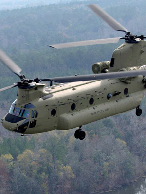 A CH-47F helicopter