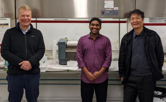 L-R: Dr Andrew Rider, Dr Jojibabu Panta (UWS) and Dr John Wang. Not pictured: Associate Professor Yixia (Sarah) Zheng