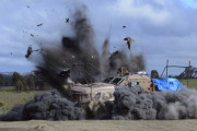 Defence subjected the Hawkei to live-fire underbelly blast testing during trials in 2011.