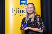Dr Melanie Farrier was presented the 2020 Early Career Alumni Award for her significant contribution to the scientific community
