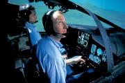 A photograph of a pilot taking part in an ALR 2002 radar warning reciever flight simulation