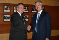 Chief Defence Scientist Dr Alex Zelinsky with Professor Vernon Gibson, Chief Scientific Advisor, UK Ministry of Defence.