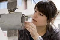 Simone van Rosendaal of Delft University ( Netherlands), undertakes Baseline lifetime fatigue Testing.