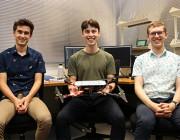 (L-R): Rhett Hull (DST STEM cadet), Jack Taylor (DST STEM summer vacation student) and Luke Smith (DST STEM cadet)