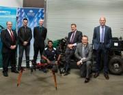 (L-R) Brendan Williams (Boeing/Insitu Pacific), Hasan Acar (AOS), Damien O'Brien (Insitu Pacific), Chatura Nagahawatte (DST), Andrew Lucas (AOS), Andrew Duggan (Insitu Pacific), Simon Ng (DST) during DST Partnerships Week in Melbourne.