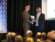 Chief of Army, Lieutenant General Angus Campbell and Chief Defence Scientist, Dr Alex Zelinsky launch the new strategy during Future Land Force Conference 2016.