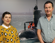 Defence scientists Holly McNabb and Dr Mike Greening