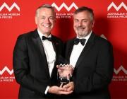 (L-R) CEO of Thales Australia, Chris Jenkins and Chief Defence Scientist, Dr Alex Zelinsky.