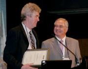 DSTO's Dr Allan Paull receives the von Karman Award for International Co-operation in Aeronautics.