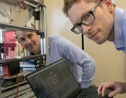 Engineers Tim Teske (left) and Andrew Hart are transforming the production of energetic materials.