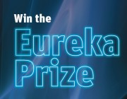 'Win the Eureka Prize' text