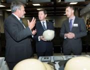 Dr Alex Zelinsky, Minister for Defence and Mr Adam Fairbairn from Amor Composite Pty Ltd.