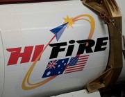 HiFIRE logo on the exterior of a jet.