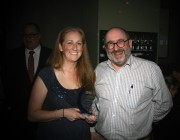 Victoria Pit and Robert Peile received the award on behalf of DST Group.