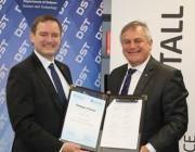 Mr Gary Stewart, Managing Director of Rheinmetall Defence Australia and Chief Defence Scientist, Dr Alex Zelinsky