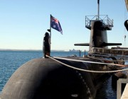 Submarine with new radar absorbing material