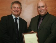Dr Greg Calbert (right) with Chief Defence Scientist Dr Alex Zelinsky