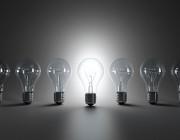 A row of lightbulbs