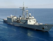 Picture of HMAS Melbourne empolying the latest sonar technologies