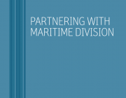 Image of the DST Maritime Division Science and Technology brochure identity